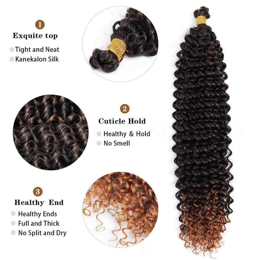 Toyotress pasja Twist Hair 18 cali Water Wave szydełkowe warkocze do pasji Twist szydełkowe włosy pasja Twist włosy plecione