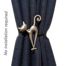 Прочные застежки для штор в форме кошки подвесные ремни из сплава