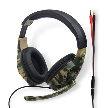 Game Headset Camouflage PC Computer Gamer Headset with Microphone for Laptop Cellphone SP99