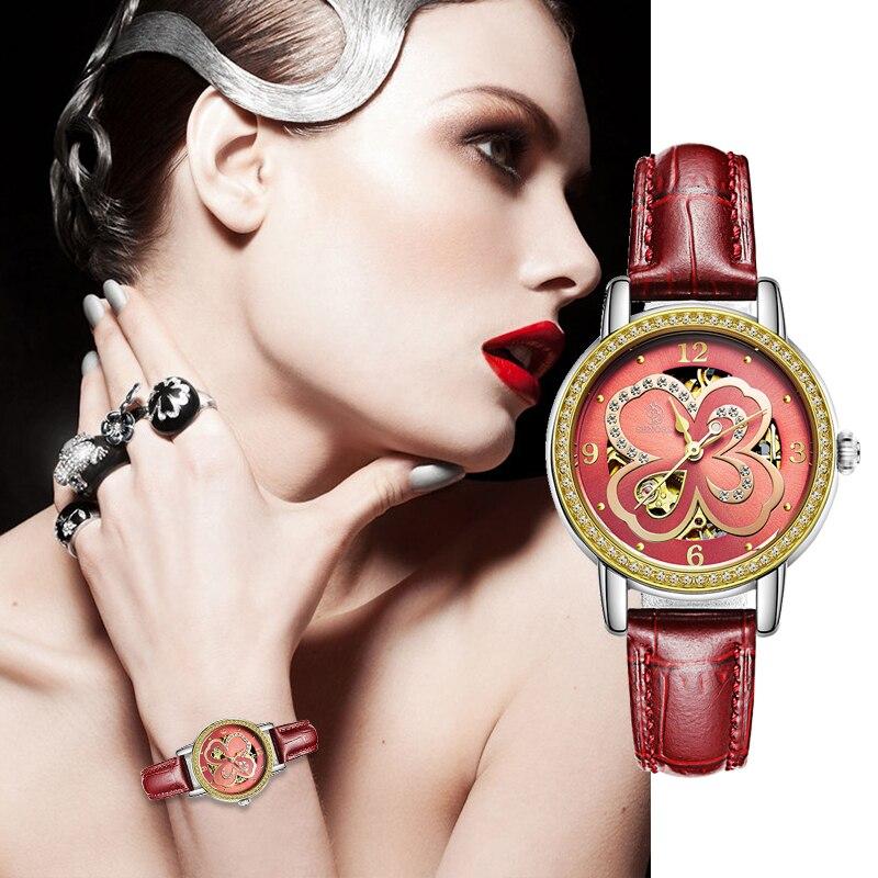 SENORS Luxury Automatic Zinc Alloy Women's Watches Top Brand Fashion Watch Mechanical Classic Woman Watch Relogio Masculino