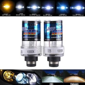 2pcs Universal Waterproof HID Bi-xenon Fog Lights Projector Lens Driving Lamps Retrofit Bulb Accessories for BMW E60 E65 X5 E53 image