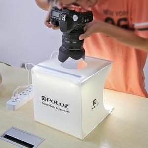 Image 5 - Profession Mini boîte à lumière pliante photographie Studio Softbox 2 lumière LED boîte souple Kit de fond Photo pour appareil Photo reflex numérique