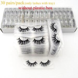 Image 1 - 30/40/100/pairs Visofree Mink Eyelashes with Tray No Box Handmade Natural False Eyelashes Full Strip Lashes Reusable Long lashes