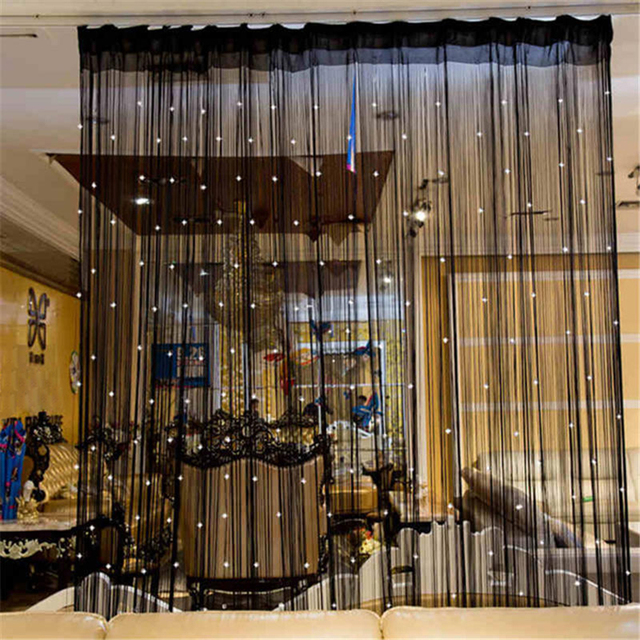 Colorful String Chain Curtain Shiny Tassel Line Curtains Window Door Divider Drape Living Room Decor Valance Home Decoration 2
