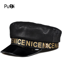 Pudi woman fashion hat cap girl new style real leather caps pilot hats berets HL904