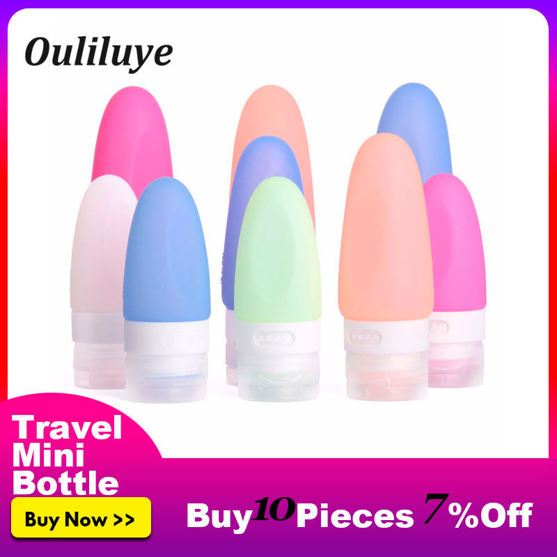 Travel Shampoo Bottles Mini Portable Silicone Shampoo Shower Gel Soap Dispenser Bathroom Lotion Sub-bottling Tube Empty Bottles