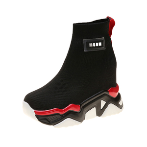 Image 5 - SWYIVY רשת טריז נעלי פלטפורמת אישה מגפי גבירותיי חדש מוצק 2019 סתיו להחליק על קרסול מגפי נשים בוהן עגול נעליים נשיות