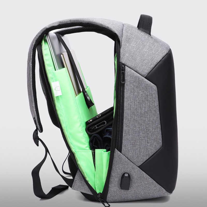 Multifunctionele Anti Diefstal Usb Opladen Mannen 15.6 Inch Laptop Rugzakken School Mode Tas Voor Tiener Mannelijke Mochila Rugzak