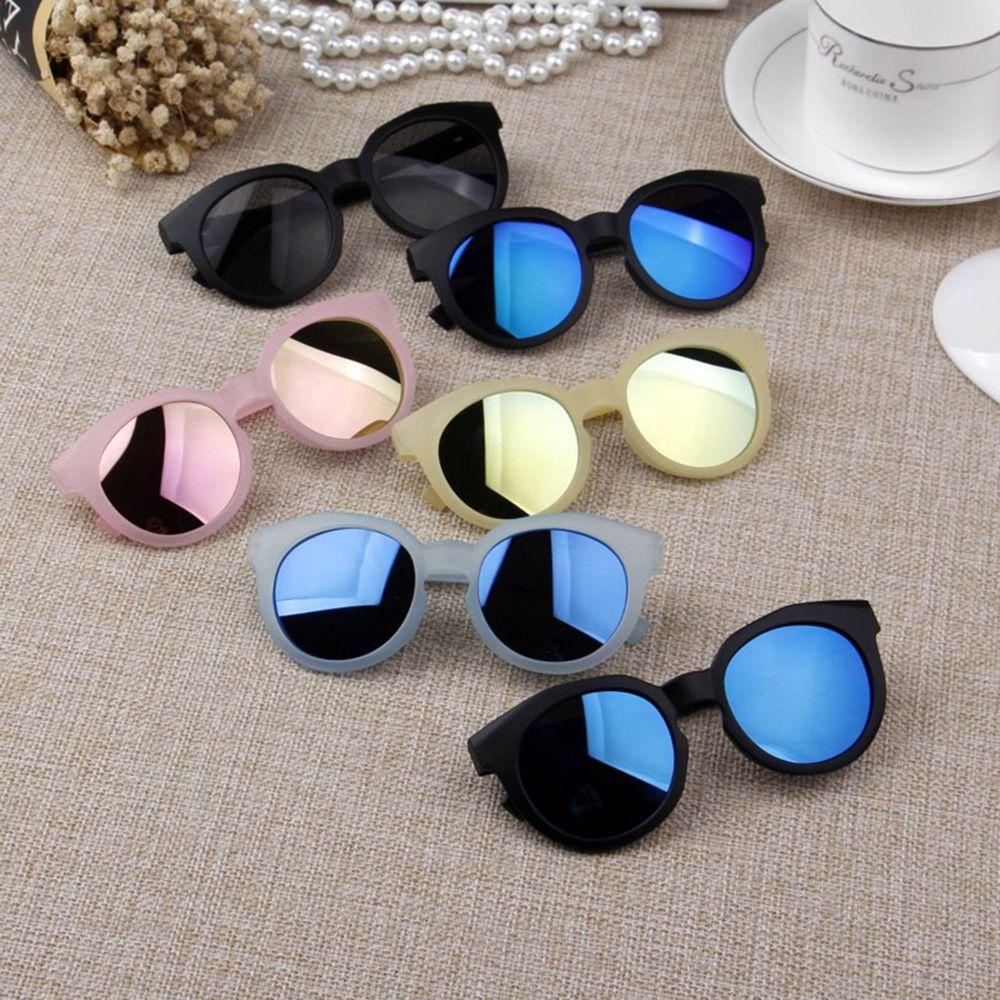 Crianças óculos de sol colorido espelho reflexivo óculos de sol crianças menino menina do bebê uv400 proteção máscaras rua carro condução