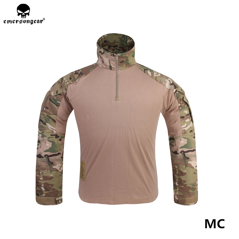 Emersongear G3 Tactical Combat Shirt Hunting Clothes MC Airsoft CS Wargame T-shirts Unisex Mens Outdoor Tees Water Repellent Top