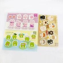 1 pacote (20 pçs adesivos) gato bonito sapo coelho decorativo adesivo álbum decoração crianças presente