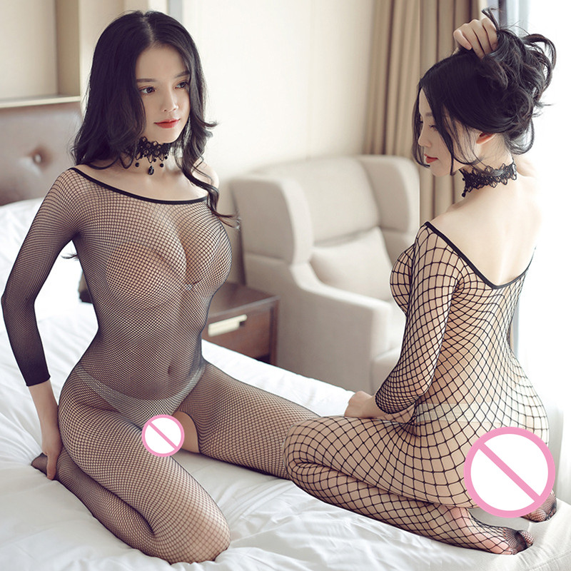 Babydolls Sexy Hollow Out Body Stockings Lace Teddy Underwear Transparent Lingerie For Erotic Women Plus Size Sex Clothes Suit