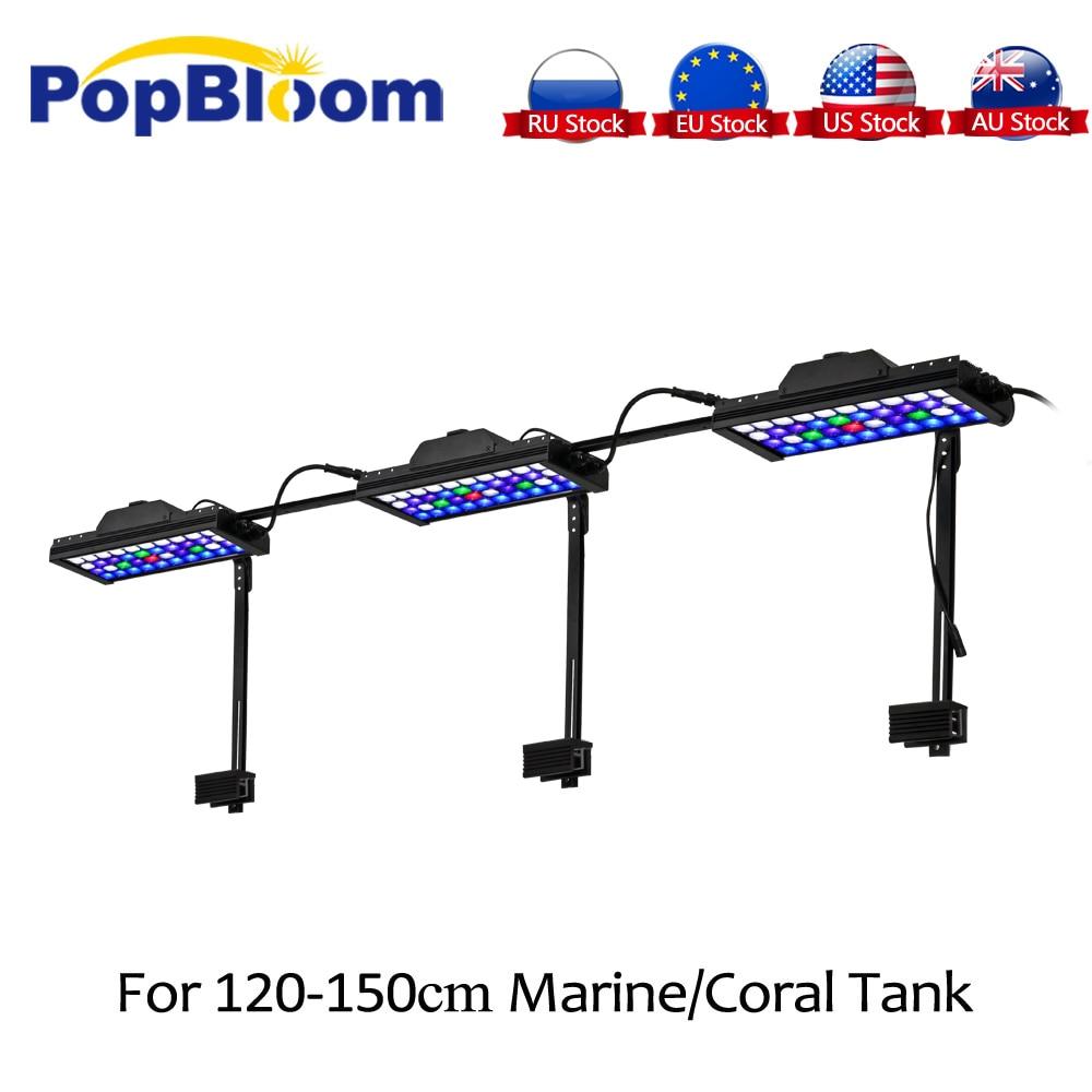 PopBloom lampe d'aquarium pour plantes d'aquarium Led lumières pêche Marine corail pierre réservoir aquarium lampe Turing30