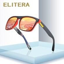 ELITERA ブランドのデザイン偏光サングラス男性ドライバーシェード男性ヴィンテージ男性の女性の正方形のミラー夏 UV400