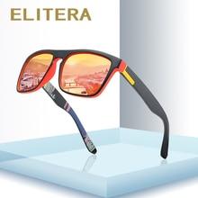 ELITERA gafas de sol polarizadas de diseño Vintage para hombre y mujer, lentes de sol unisex con espejo cuadrado, con UV400