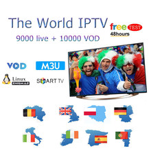 Europe 1 Year IPTV Subscription German Poland UK Spain france for iptv 9000 live channel free test Stable World IPTV Italy M3U(China)