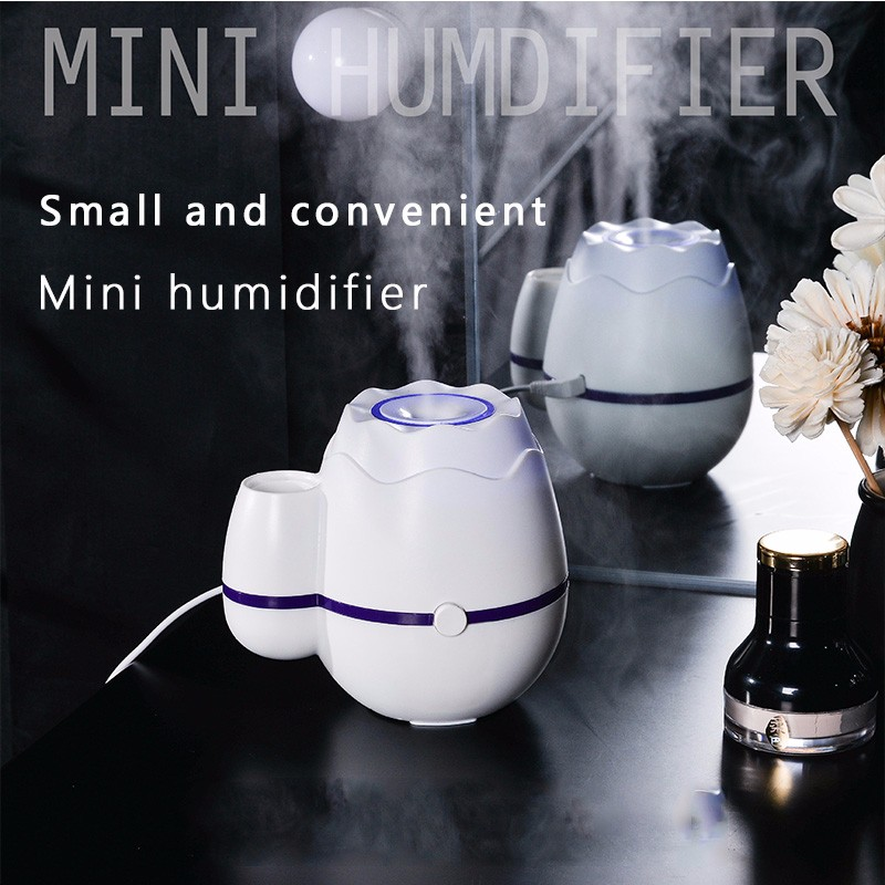 Vase Humidifier Mini Household Nebulizer Silent Air Purifier Office Desktop Diffusion Car