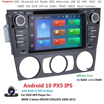 7 Android 10 autoradio 8 Core RAM 4G ROM 64G in-Dash Video Radio Car Navigation GPS for BMW 3 Series E90/E91/E92/E93 Multimedia image