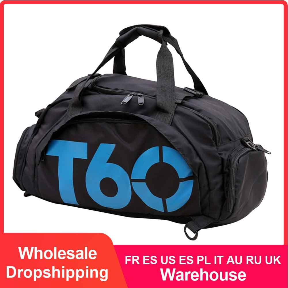 Waterproof Gym Sports Bag Men Women Fitness Bag Training Backpacks with Strips Pouch Rucksack Travel Bags Outdoor T60