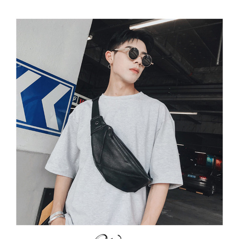 Free Shipping Hot Selling Thread Chest Bags PU Shoulder Bag Satchels Messenger Bags For Men Lahore