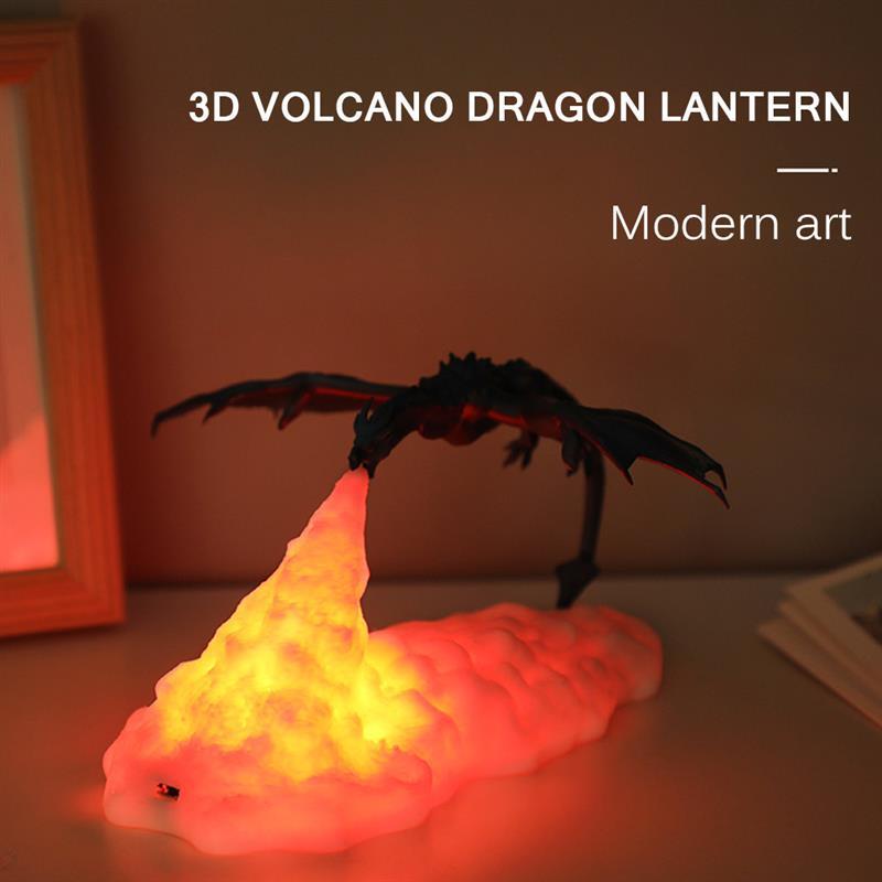 3D Fire-Breathing Night Light Dragon