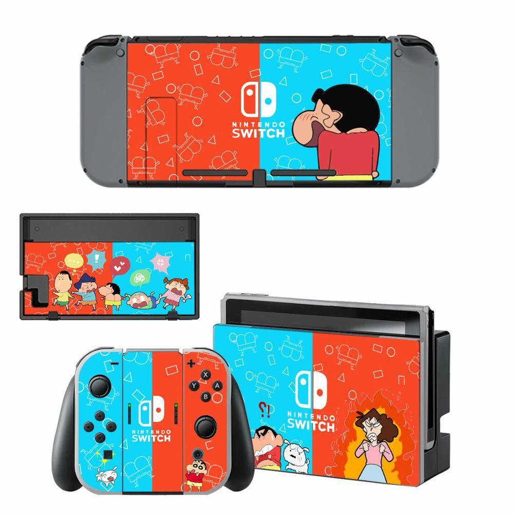 Crayon Shin-chan Skin Sticker Decal For Nintendo Switch Sticker Skin For Nintend Switch NS Console And Joy-Con Controller Vinyl