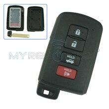 Smart key case shell cover 4 button for Toyota Camry Hybrid Avalon Corolla Highlander RAV4 2012 - 2016 HYQ14FBA Remtekey стоимость