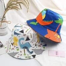 Детская летняя шляпа с принтом динозавра складная
