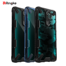Ringke funda Fusion X para Xiaomi Redmi Note 8 Pro, carcasa transparente dura de PC, funda de marco de TPU suave