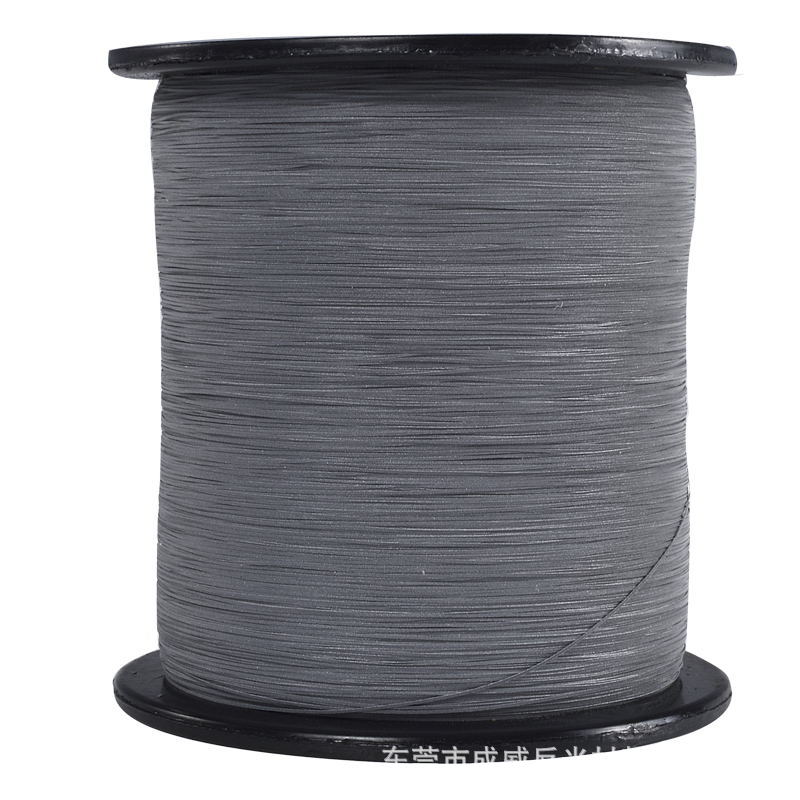 Supply 0 5mm Wide Specular Reflective Yarn Silver Double-Sided Reflective Yarn Highlight Environmentally Friendly Reflective Yar