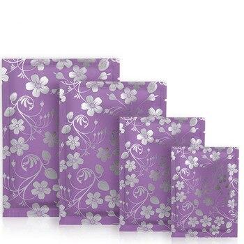 Bolsas de maquillaje para embalaje de mascarillas cosméticas, lámina Mylar de termosellado superior abierta, regalo de dulces de té, bolsa de muestra con muesca de desgarro, 100 unids/lote