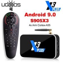 X3 בתוספת Amlogic S905X3 חכם טלוויזיה תיבת 4GB RAM 64GB DDR4 אנדרואיד 9.0 X3 Pro 4GB RAM 32G הכפול WiFi 1000M X3 קוביית 2G 16G מדיה נגן