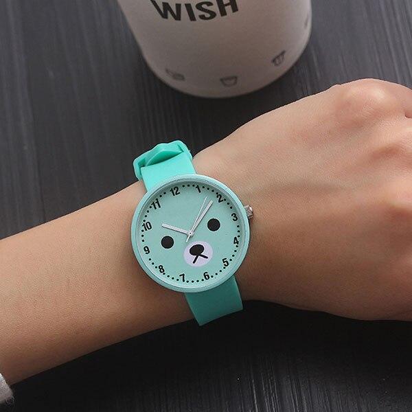 Silicone Watch Children Kids Watches For Girls Boys Students Gifts Quartz Wristwatches Child Wrist Clock Fashion Cute Bear Style