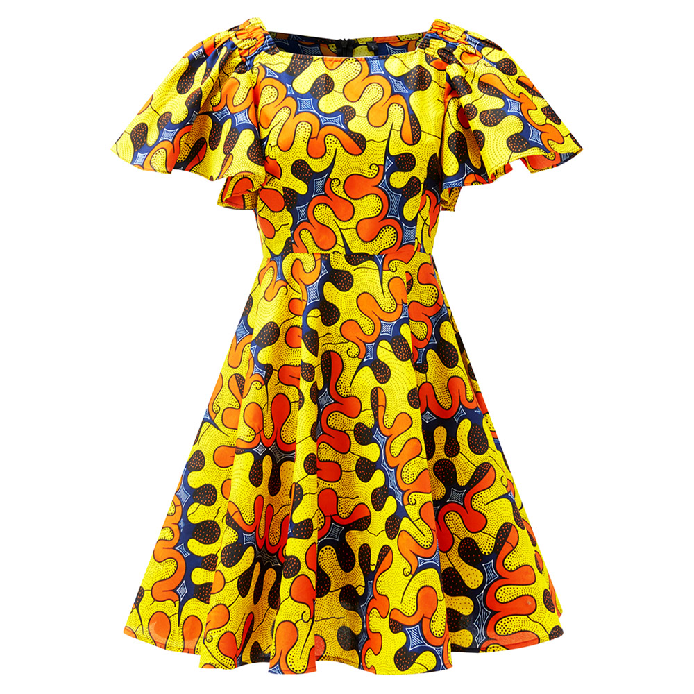 African Dresses For Women Ankara Print Dresses Cotton Material New 2020 Women One Shoulder Dress Fashion African Clothing