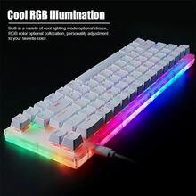 Çalışırken değiştirilebilir Womier K66 tuşları mekanik oyun klavyesi Tyce C kablolu RGB arkadan aydınlatmalı Gateron anahtarı kristal tabanı PC dizüstü bilgisayar