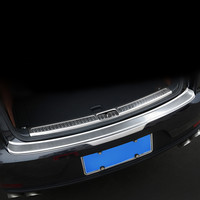 Car Rear Bumper Cover Trunk Inner Outer End Trim Sill Plate Protector Guard for Porsche Macan 2014 2015 2016 2017 2018 Styling