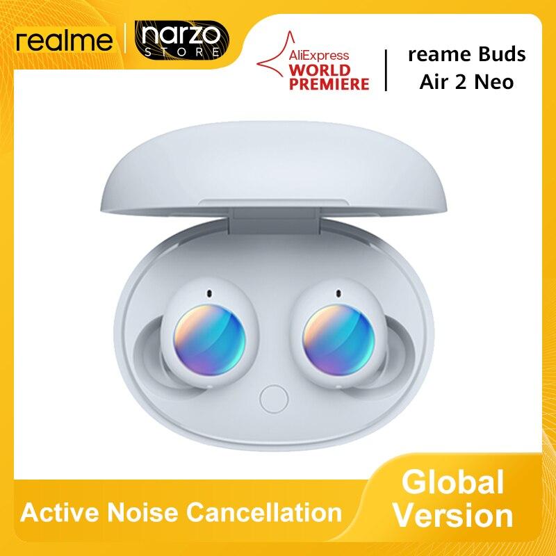 Глобальная версия Realme бутоны Air 2 Neo наушники-вкладыши TWS с Беспроводной Bluetooth наушники активное Шум отмены 28 всего часов $30-$3 Промо-код: Admitad250HB...