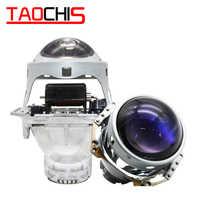 TAOCHIS Hella 3 5 Head lamp Bi-xenon Projector Lens Blue film Car styling Aluminum 3.0 Inch D1S D3S D4S D2S Bulbs H4 Retrofit