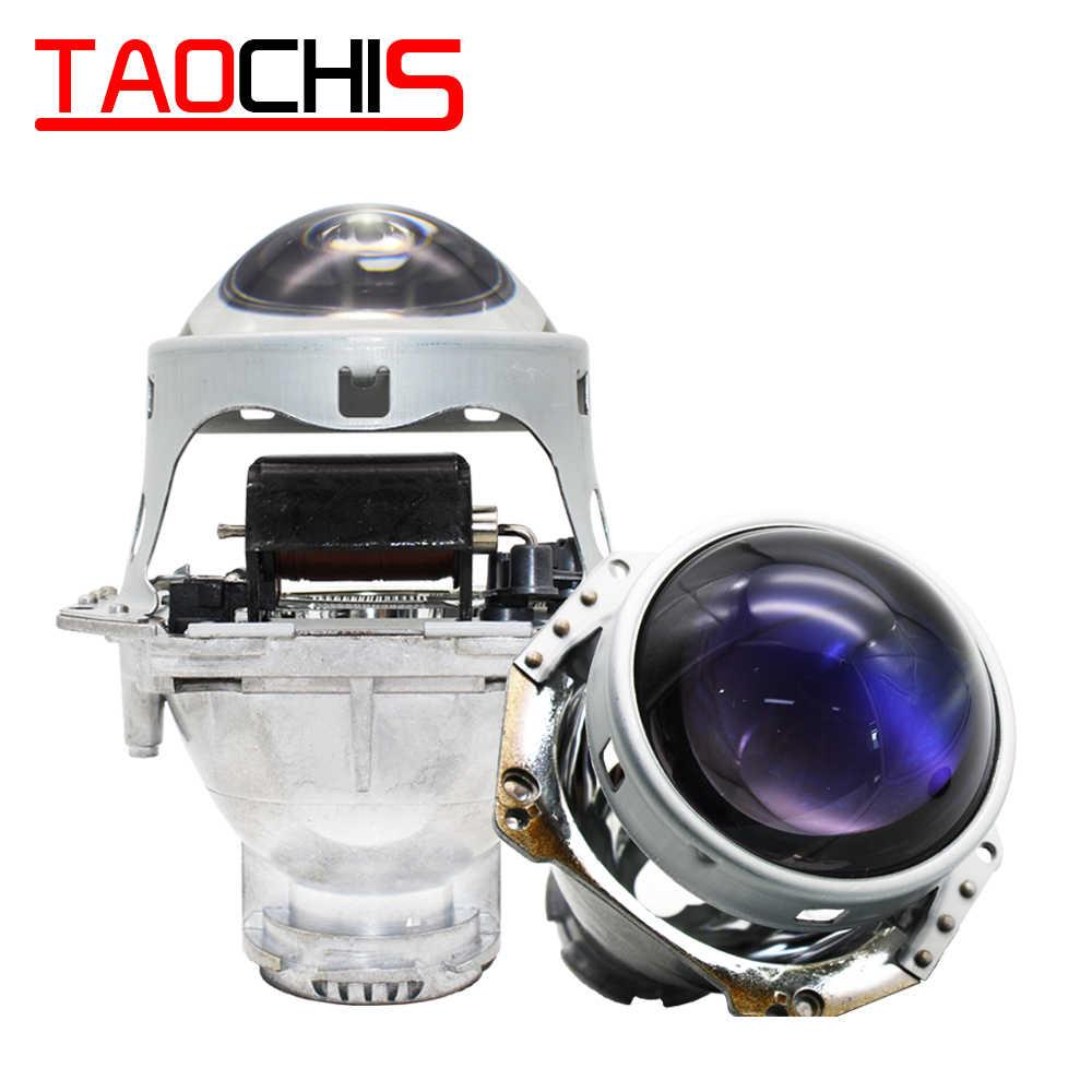 TAOCHIS-lampe frontale Hella 3 5 | Objectif de projecteur, bi-xénon film bleu, style de voiture, en aluminium, 3.0 pouces, D1S D3S D4S D2S ampoules rénovation H4