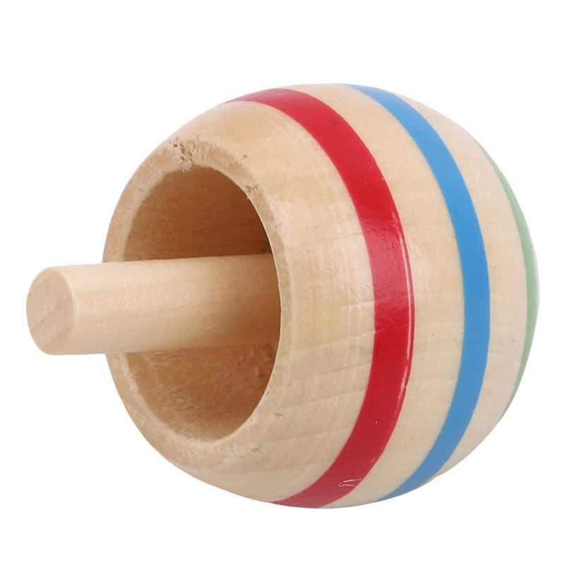 3 peças engraçado simples giroscópio de madeira girando topo clássico interessante criativo crianças brinquedos educativos presente fixação superior giroscópio