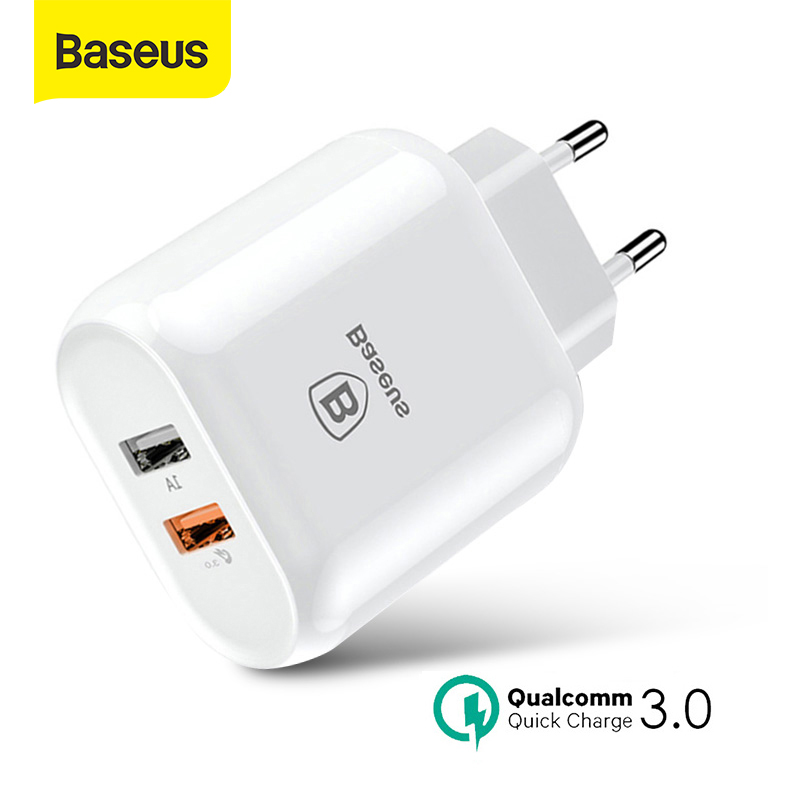 Baseus 23W USB Charger Quick Charge 3.0 Fast Phone Charger Portable Travel Adapter Wall Charger QC 3.0 For Xiaomi Samsung HUAWEI