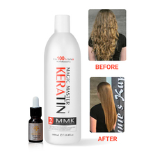 New Products Without Formalin Great Smelling Magic Master Keratin Professional hair straightener +10ml Argan Oil