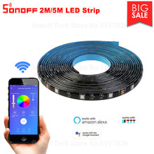 Itead Sonoff 5050RGB 2M/5M LED Strip Dimmable Waterproof Flexiable Smart Colorful Light Strip Work With Sonoff L1 Controller