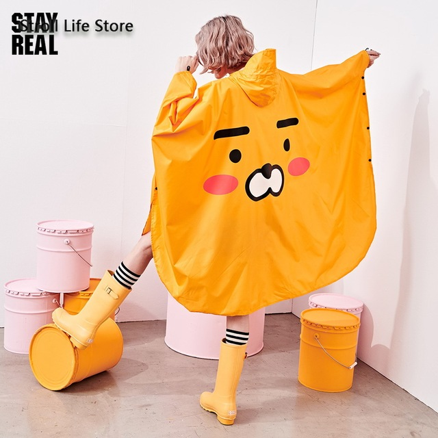 Yellow Rain Poncho Raincoat Women Cute Orange Waterproof Poncho Rain Coat Jacket Hiking Impremiable Motorcycle Raincoat Gift