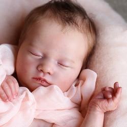 RBG Reborn Kit Reborn bébé vinyle Kit 19.5 pouces Logan dormir non peint inachevé poupée pièces bricolage blanc Reborn vinyle poupée Kit