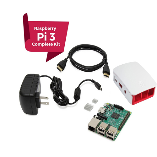 Raspberry Pi 3 Starter Kit COMPLETO, Preto, framboesa Pi3 Modelo B Computador Barebones Motherboard 64bit Quad-Core CPU 1GB RA