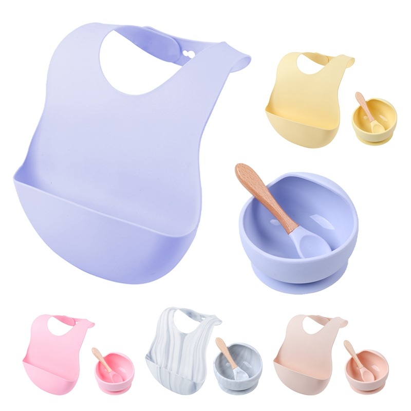 Baby Silicone Bibs Bowl Sets Feeding Supplies 1PC Baby Silicone Chewing Food Grade Newborn Accessories Teeth