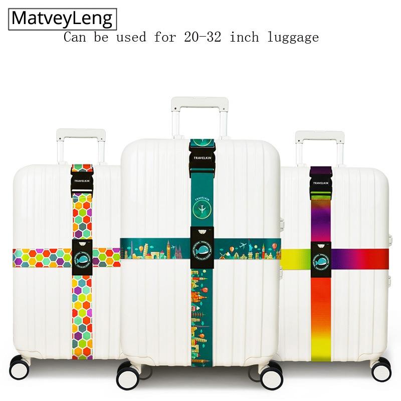 TSA Customs Lock Cross Luggage Belt TSA Customs Code Lock Bundle Belt Luggage Cross Safety Belt Banding Belt