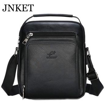 JNKET New Retro Men's  PU Leather Shoulder Bag Leisure Sling Bag Travel Crossbody Bags Large Capacity Messenger Bag Handbag цена 2017