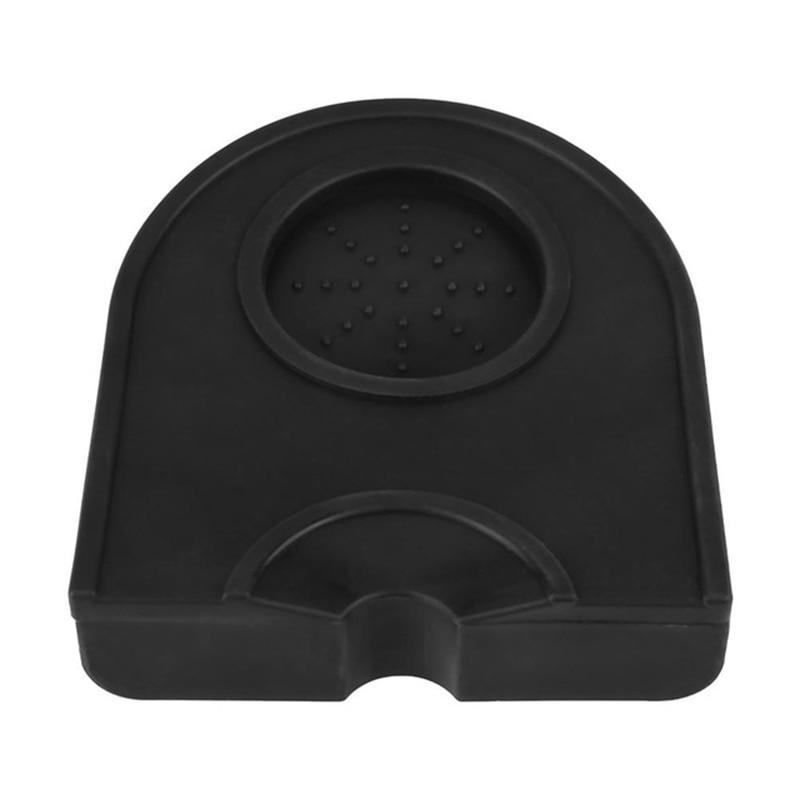 Manual Barista Coffee Espresso Latte Art Pen Tamper Holder Silicone Pad Mat Kitchen Accessories Black